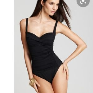 Black one piece swimsuit bathing suit la Blanca
